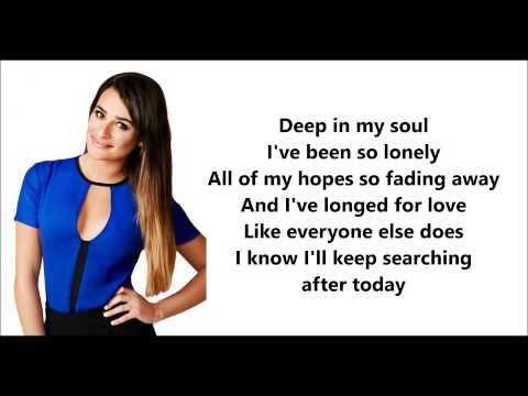 Glee - We've Got Tonight (Lyrics)