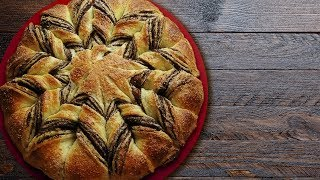 Красивый маковый пирог из творожного теста - рецепт