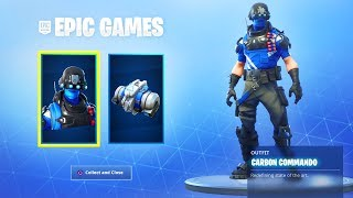 The NEW FREE CARBON COMMANDO PACK In Fortnite! (How To Get Free Carbon Commando Skin Pack)