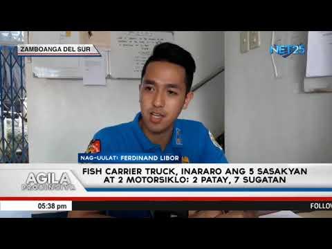 Fish carrier truck inararo ang 5 sasakyan at 2 motorsiklo; 2 patay, 7 sugatan