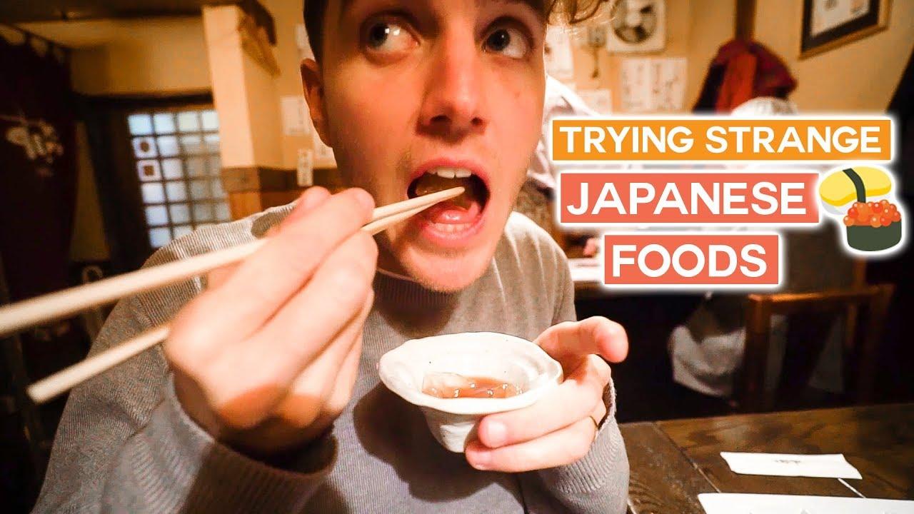 Trying Weird Unusual Japanese Street Food Japan Vlog