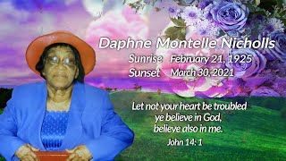 Celebrating The Life of Daphne Montelle Nicholls