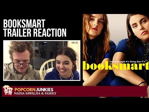 BOOKSMART (Official Trailer) – The Popcorn Junkies Family Movie Reaction