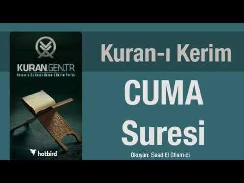 cuma suresi dinle ezberle türkçe meali oku. kuran.gen.tr
