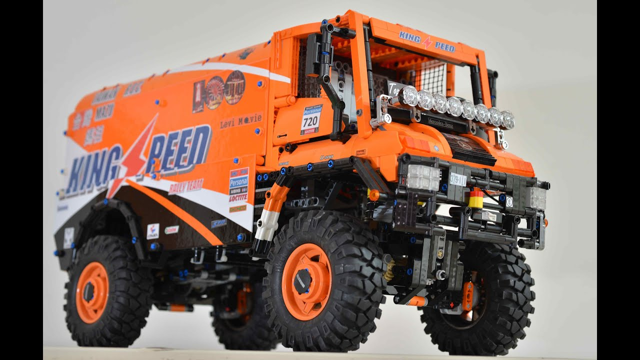 Lego Technic Moc Rc Mercedes U400 Dakar 4x4 Truck Youtube