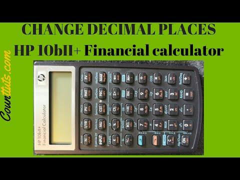Change Decimal Places | HP 10bII+ Financial Calculator