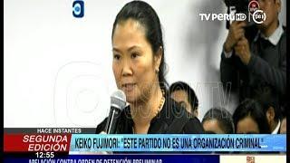 """Keiko Fujimori: """"Jamás me voy a fugar del país, estoy aquí dando la cara"""""""