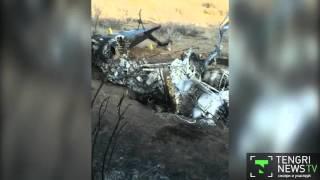 Видео с места падения вертолета Ми-2 в Жамбылской области(В распоряжении редакции TengrinewsTV оказались кадры с места крушения вертолета Ми-2 в Жамбылской области. На..., 2016-01-24T17:53:32.000Z)