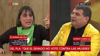 Debate por aborto: hablan los diputados Romina del Plá y Alfredo Olmedo