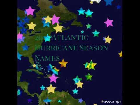 Eric Hunter - The Atlantic 2019 Hurricane Season Names