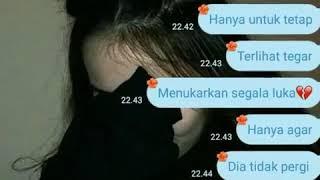 Story WhatsApp status WA CCP Fake Chat Kekinian Remaja Baper Kecewa Sayang Sedih LDR
