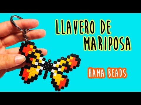 Cómo hacer un LLAVERO DE MARIPOSA con Hama beads (Perler beads)