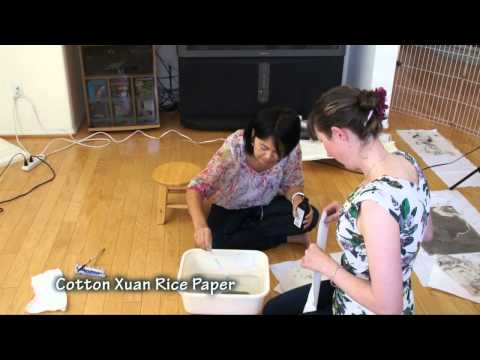 How to Make Marbled Effect on Rice Paper with Sumi Ink and Water