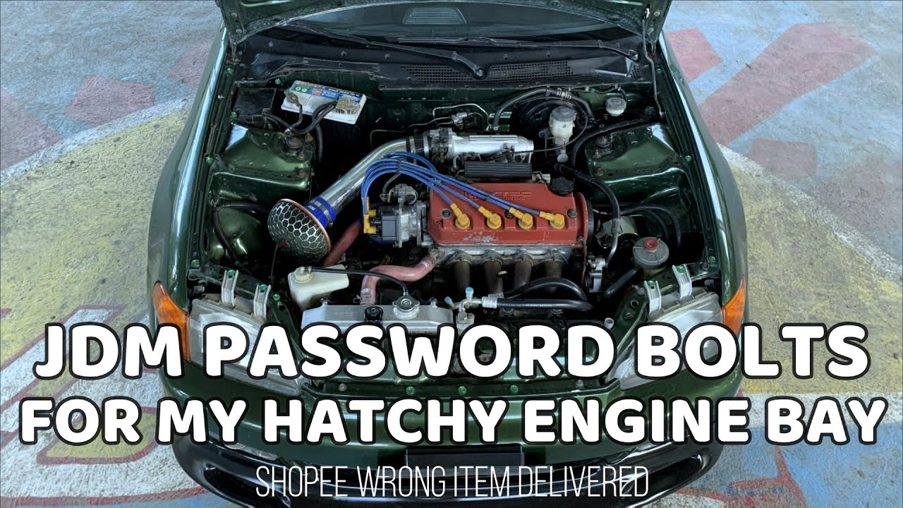 JDM PASSWORD BOLTS FOR ENGINE BAY | SIMPLE MODS THAT MAKES YOUR ENGINE BAY LOOKS GOOD