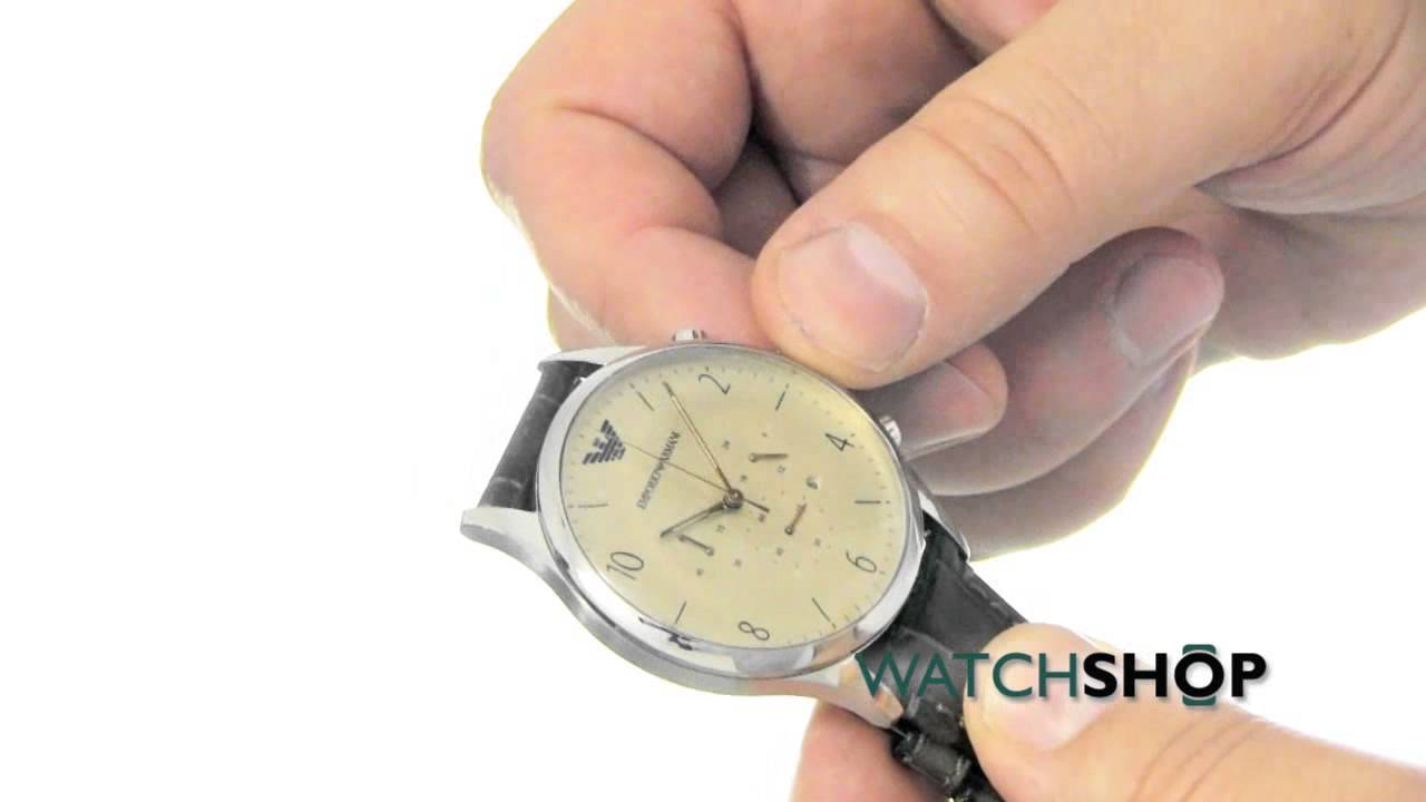 d5f54372c Emporio Armani Men's Chronograph Watch (AR1878) - YouTube