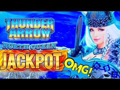 Thunder Arrow Slot Machine HANDPAY JACKPOT & HUGE WINS - Great Session | Live Slot Play At Casino