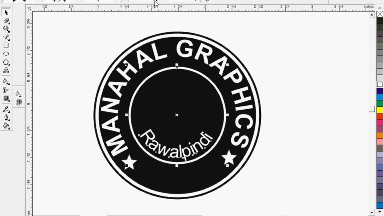 How To Make Circle Stamp In Corel Draw Youtube