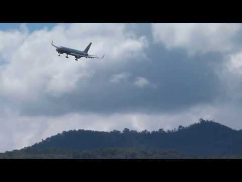B757 Landing and go-around Tegucigalpa