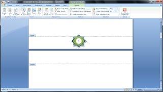 Belajar microsoft word 2007 | Cara membuat desain footer nomor halaman