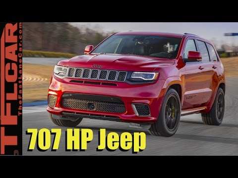 707 hp jeep grand cherokee trackhawk early look the quickest suv ever youtube. Black Bedroom Furniture Sets. Home Design Ideas