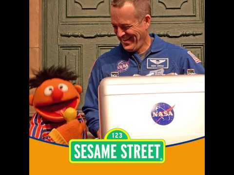 NASA Astronaut Returns Sesame Street Mementos Flown on Orion Spacecraft (Ernie's Rubber Ducky)