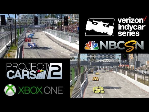 Project CARS 2 vs REALITY -- [IndyCar @ Long Beach]