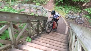 Climbing and drop stairs mountain bike trial and cross-country
