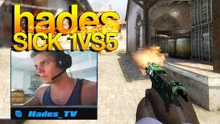 CS:GO - Hades SICK 1vs5 on Stream!