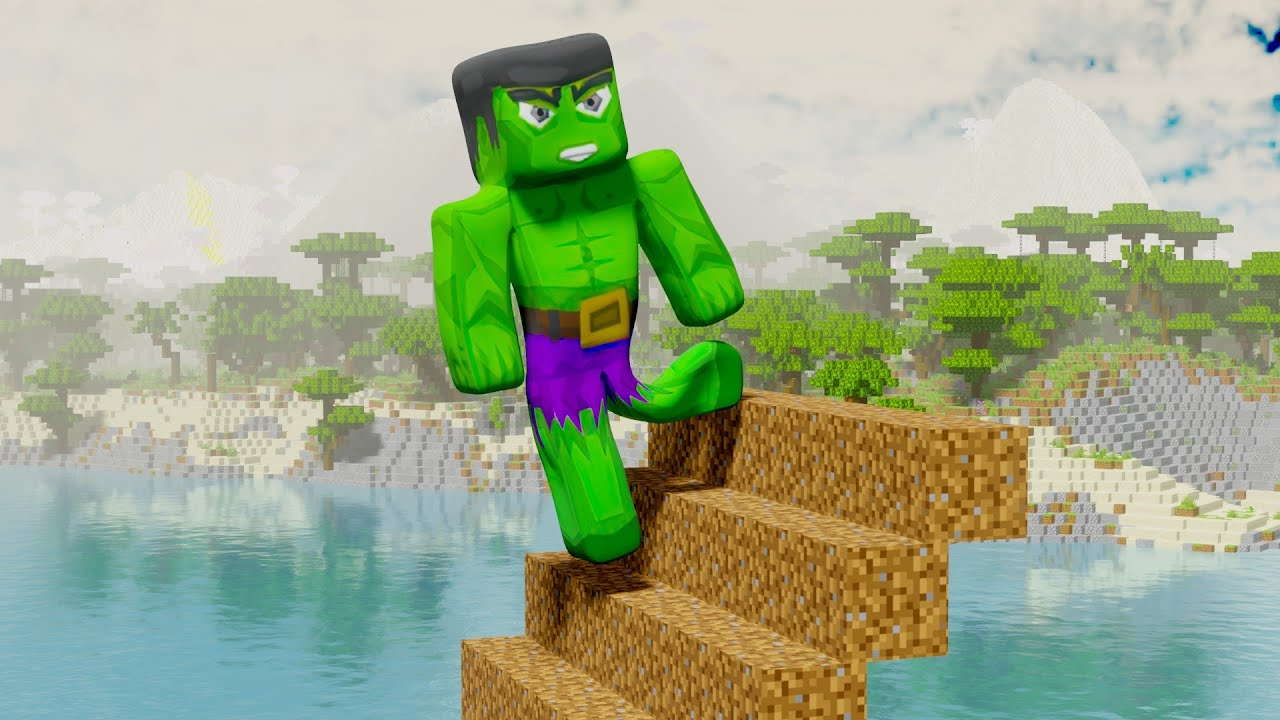 Hulk's first day as a superhero - MINECRAFT