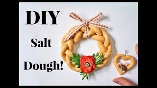 Making Salt Dough Decorations  Ornaments  - EASY DIY RECIPE