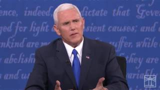Mike Pence on abortion   2016 Vice-Presidential debate