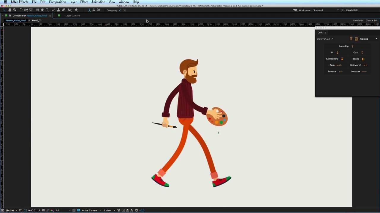 Анимация картинки афтер эффект