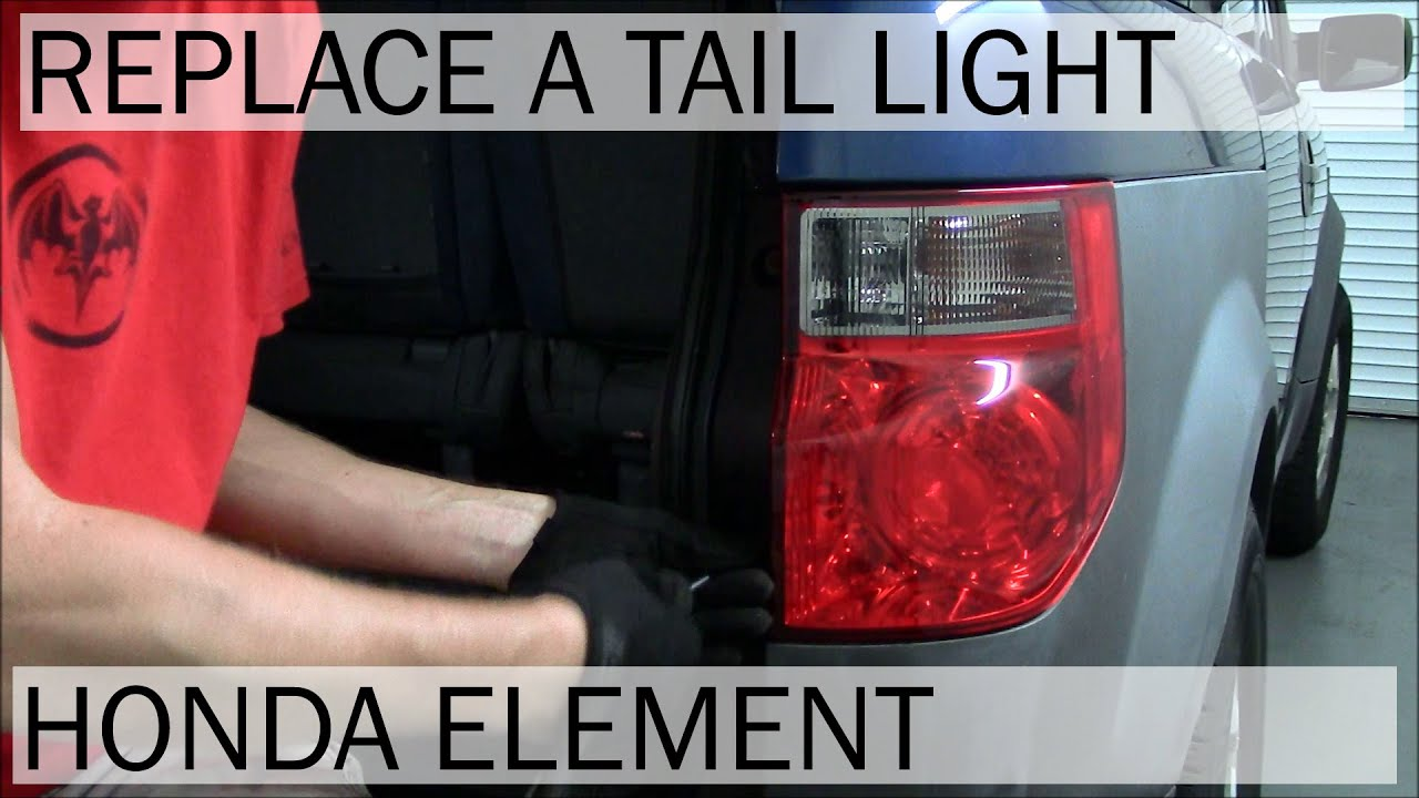 Honda Element | Tail Light Replacement - YouTube
