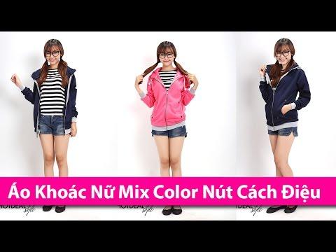 Áo Khoác Nữ Mix Color Nút Cách Điệu - Áo Khoác HCM Chuyên áo Khoác Len Nữ, áo Khoác Thời Trang, áo K