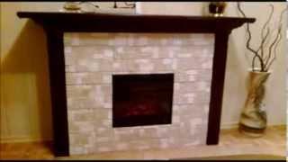 портал для электрокамина(изготовление портала для электро камина из гипсокартона и искуственного камня., 2013-11-30T19:36:54.000Z)