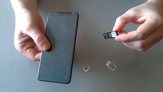 Xiaomi Redmi 5 / Как установить nano-SIM-карты в лоток смартфона