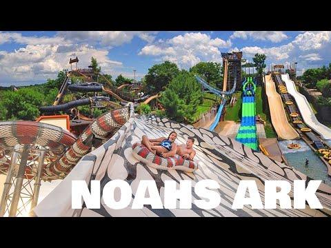 Noah's Ark Waterpark Every Slide (HD POV) Wisconsin Dells, WI