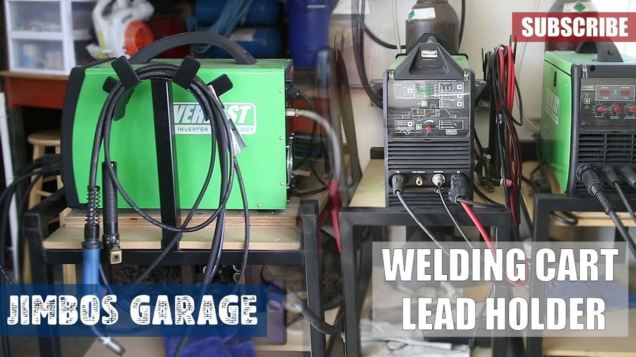 welding cart lead holder jimbos garage youtube rh youtube com wiring garage for welder Wiring 240 Volt Welder
