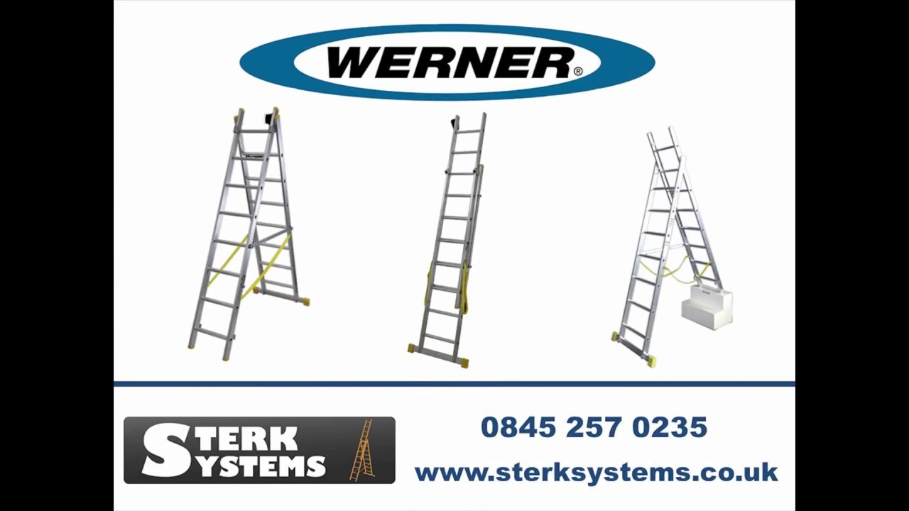 Werner Aluminium Box Section Double Extension Plus Ladder - 724