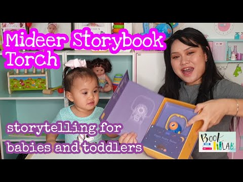 Mideer Storybook Torch Unboxing   Storytime Projector   Storytelling Gift Toy for Babies & Toddlers