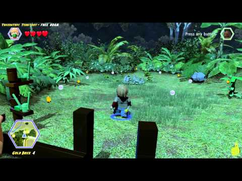 Lego Jurassic World: Triceratops Territory FREE ROAM (All Collectibles) - HTG