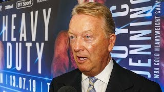 'Anthony Joshua DIDN'T WANNA BE THERE, PLEASED TO GET OUT,' says Frank Warren