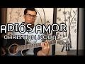 Adiós amor - Christian Nodal acustico guitarra cover letra y acordes