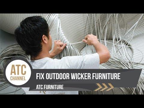 Fix Outdoor Wicker Furntiure ATC Furniture Furnishings Corp