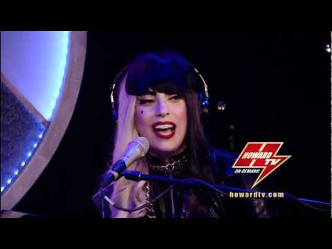 """Lady Gaga performing """"The Edge Of Glory'' SOLO Piano live on Howard Stern Show"""