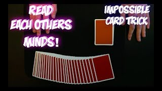 HOW TO READ MINDS! Best Impromptu Card Trick Ever Tutorial!