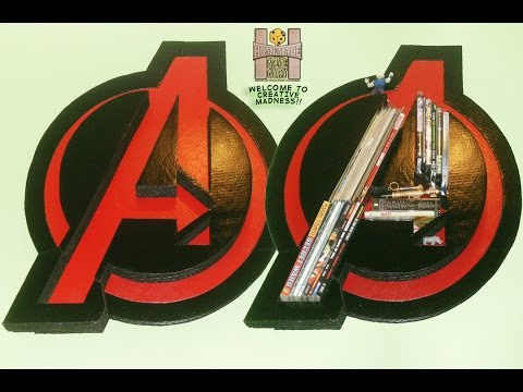 Homemade Diy Cardboard Marvel S The Avengers Logo Wall Bookcase Youtube