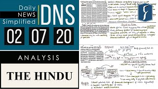 THE HINDU Analysis, 02 July 2020 (Daily News Analysis for UPSC) – DNS