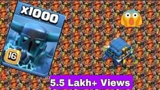 [1000 MAX  SUPER PEKKA vs FULL BASE MAX INFERNO TOWER] CLASH OF CLANS MAGIC BEST and FUNNY ATTACKCOC