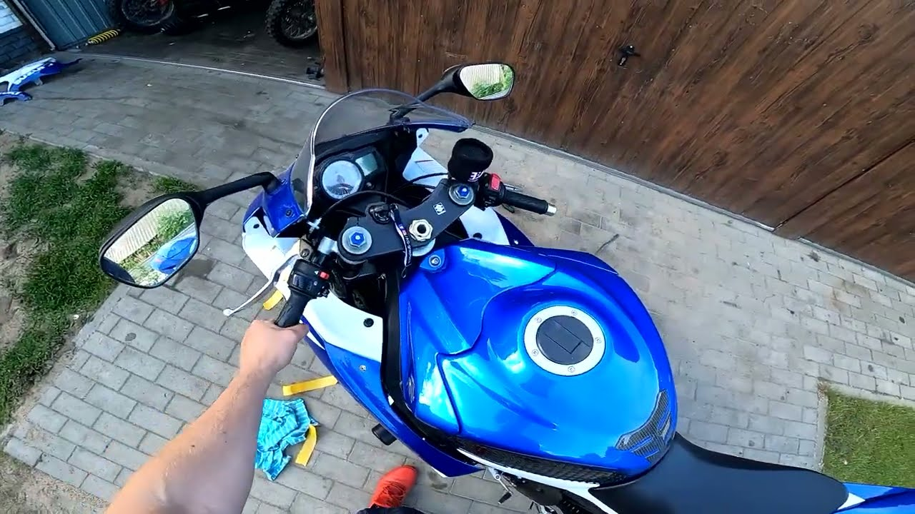 Suzuki GSX-R 750  Jak ustawić czujnik przepustnic TPS? Czyszczenie  filtra powietrza K&N i nowy bak